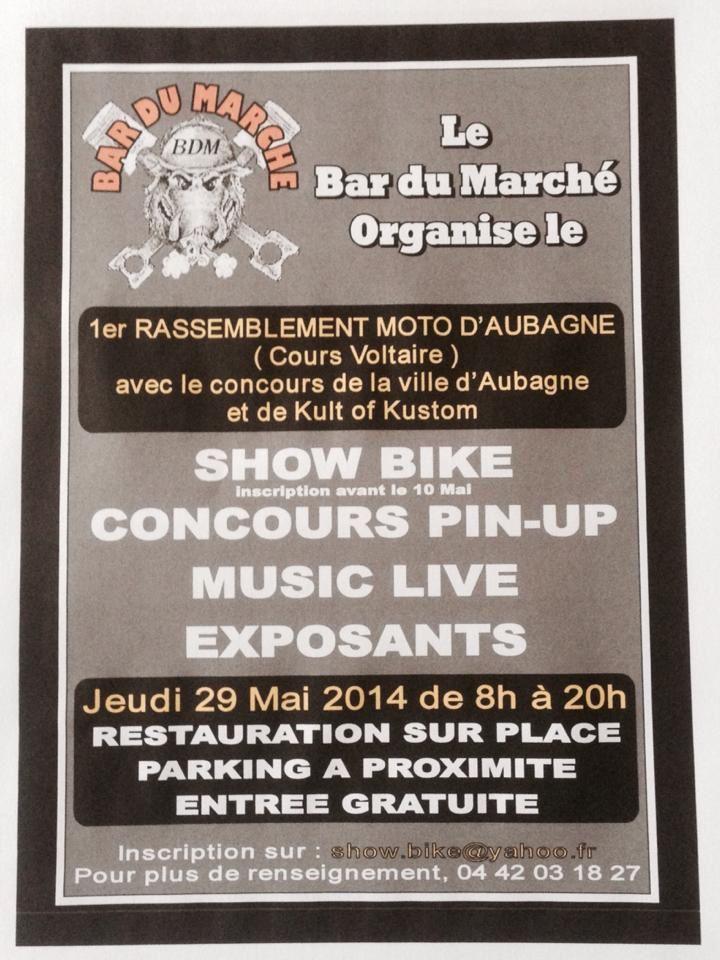 Rassemblement moto à Aubagne