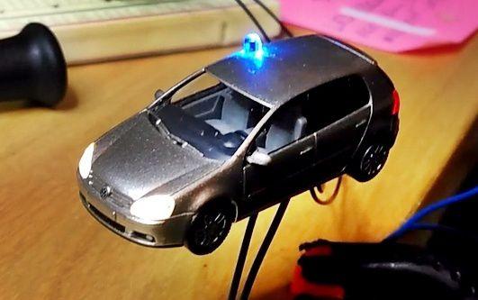 Voiture de police banalisée