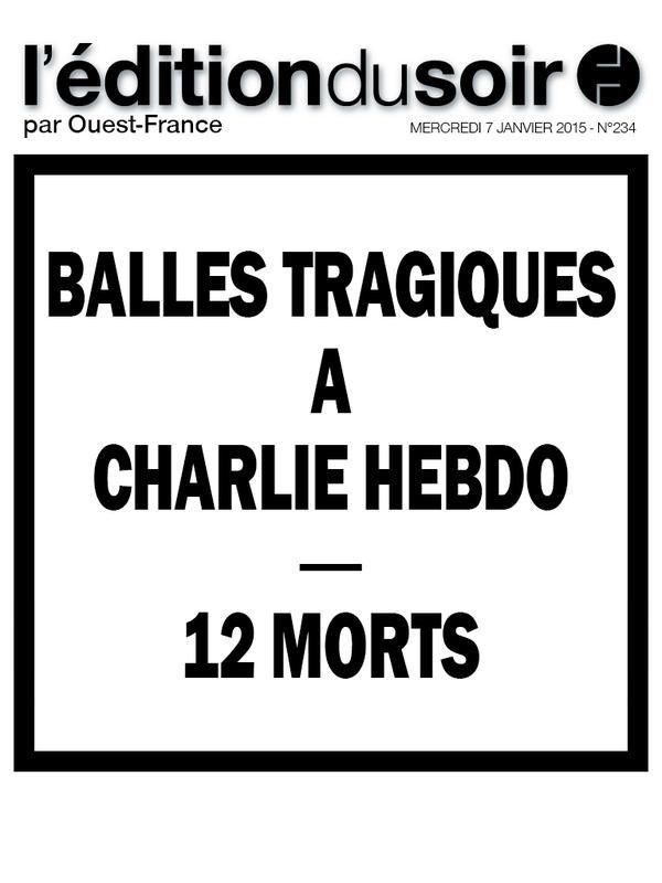 Attentat terroriste à Paris au siège de Charlie Hebdo