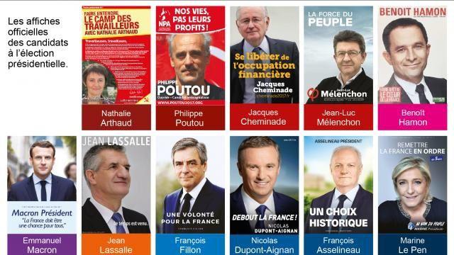 Les 11 affiches officielles de l'élection présidentielle française 2017