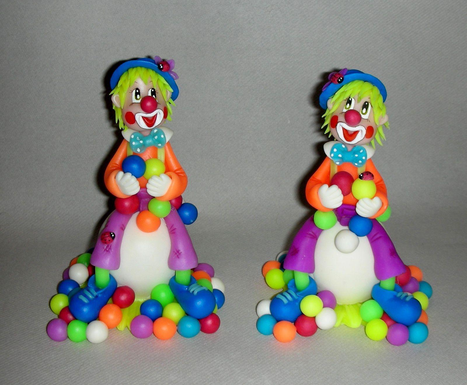 P'tite déco avec clown fluo en porcelaine froide