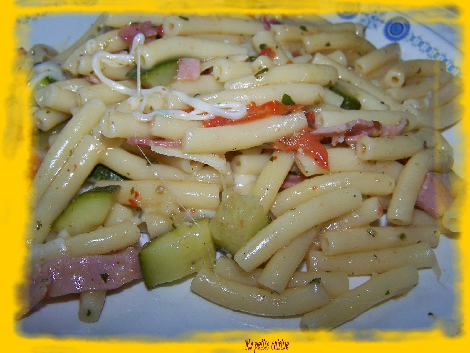 One pot pasta légumes-jambon