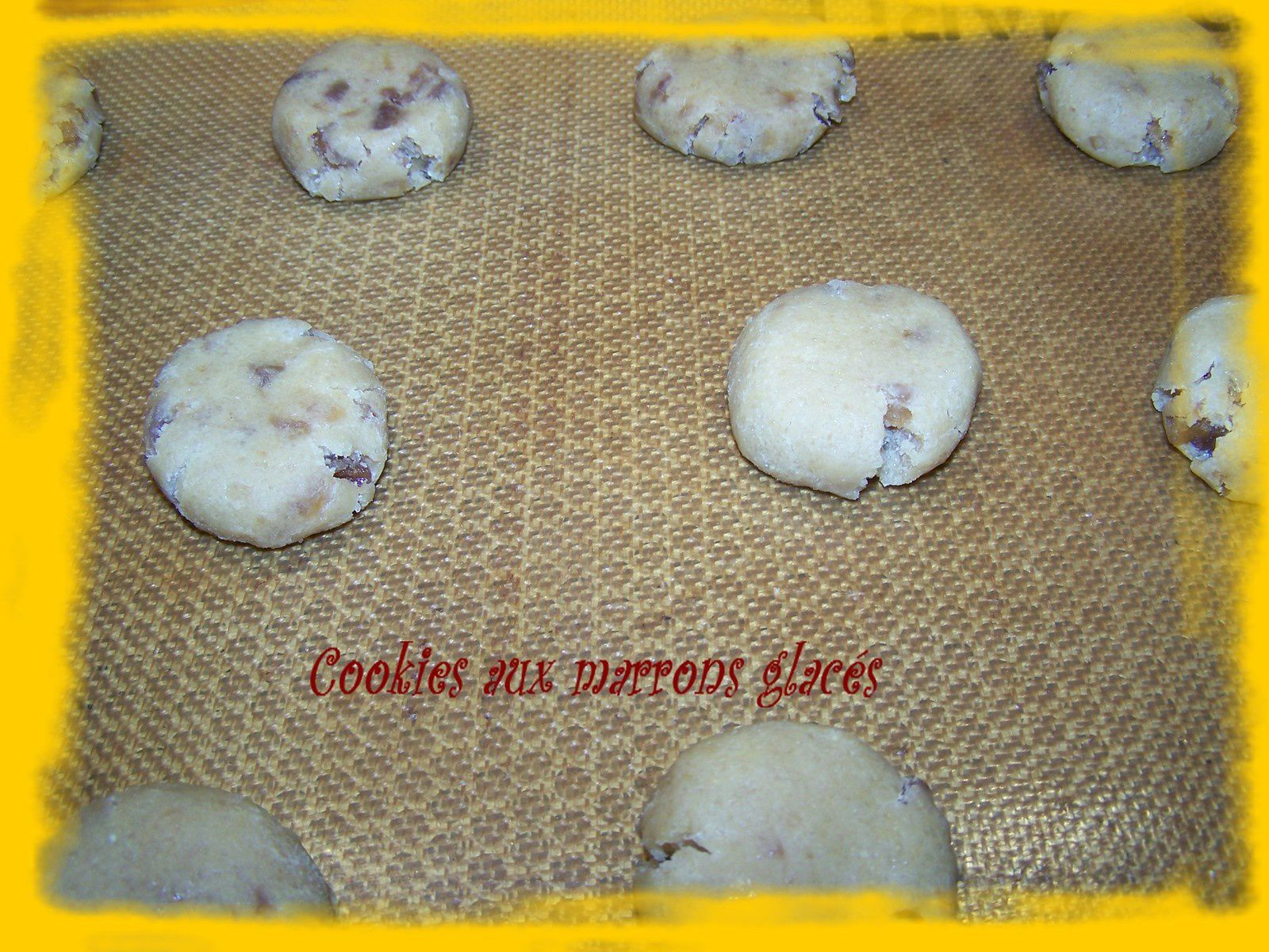 Cookies aux marrons glacés