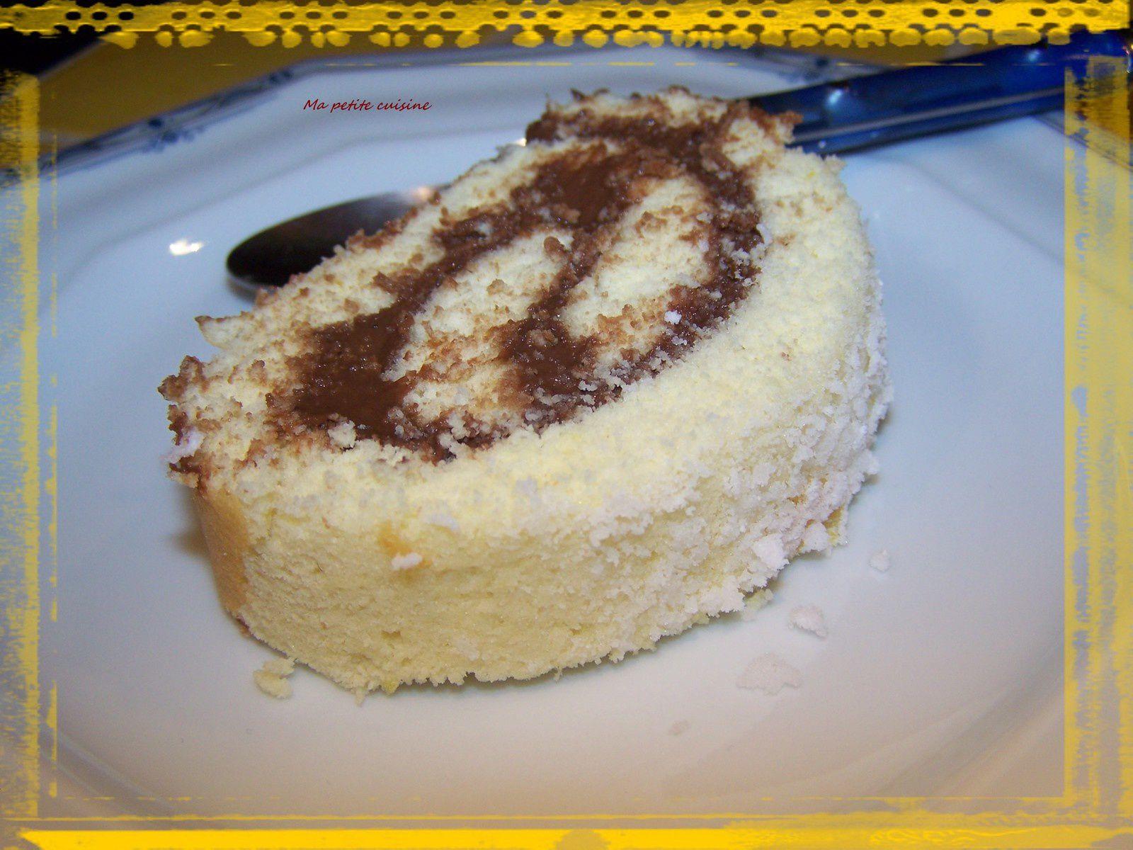 Roulé à la crème au chocolat