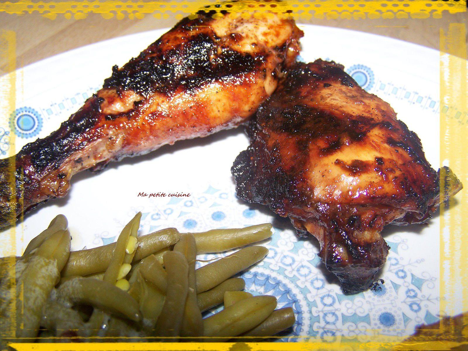 Poulet à la lèche doigts ( poulet cuit au barbecue)
