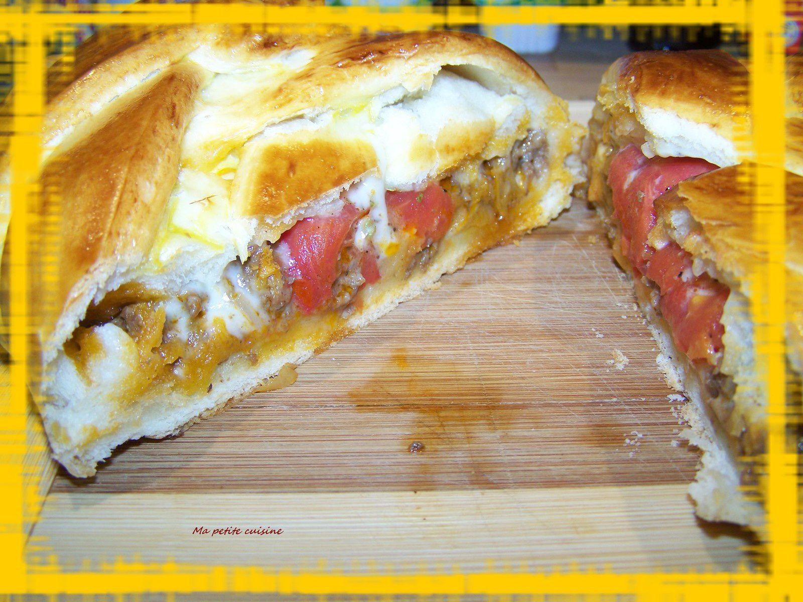 Tresse à la viande hachée et au fromage