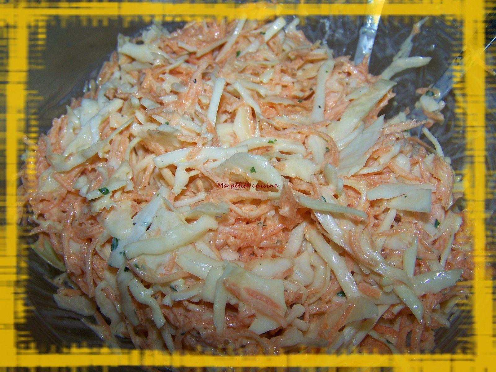Sauce pour coleslaw allégé