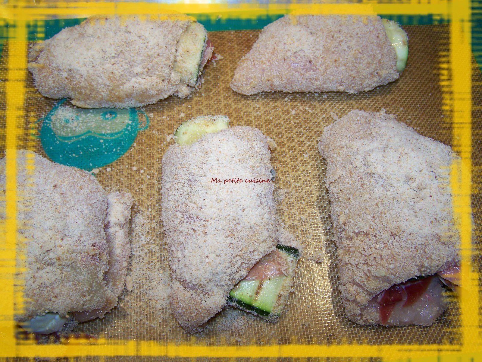 Cordon bleu de poulet roulé