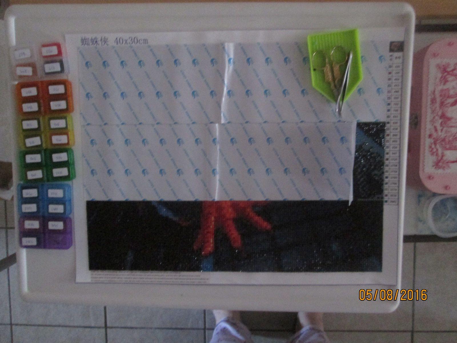 TABLEAU DIAMANTS &quot&#x3B;SPIDER-MAN&quot&#x3B; 1ère avancée