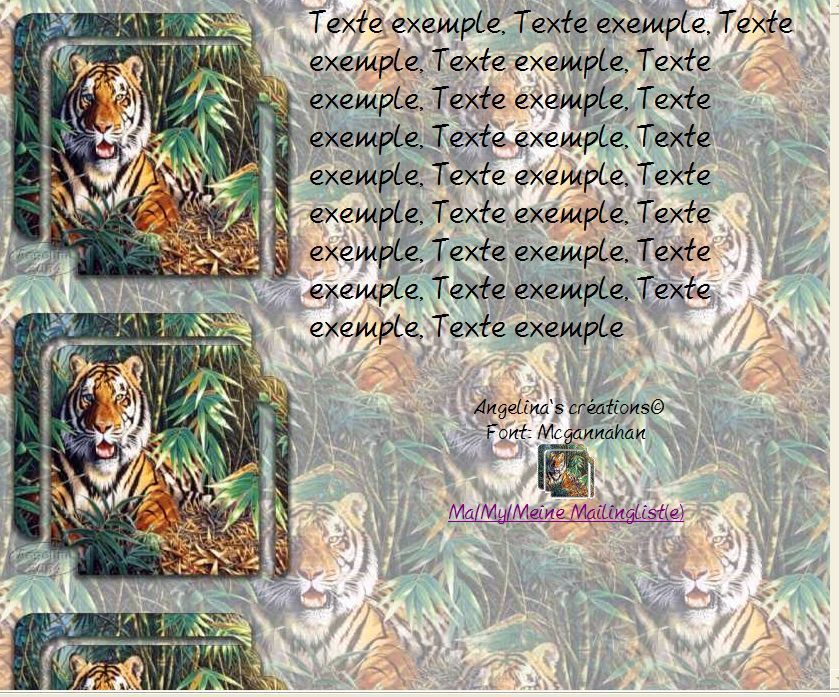 Tigre Incredimail &amp&#x3B; Papier A4 h l &amp&#x3B; outlook &amp&#x3B; enveloppe &amp&#x3B; 2 cartes A5 &amp&#x3B; signets painting_tigertiger2