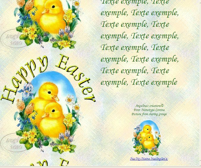 Happy Easter canards_fleurs_pa Incredimail &amp&#x3B; Papier A4 h l &amp&#x3B; outlook gif &amp&#x3B; enveloppe &amp&#x3B; 2 cartes A5 &amp&#x3B; signets      happy_easter_canards_fleurs_pap