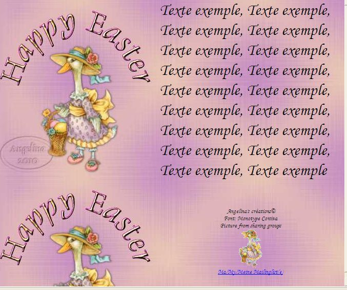 Happy Easter mseasterducksm Incredimail &amp&#x3B; Papier A4 h l &amp&#x3B; outlook &amp&#x3B; enveloppe &amp&#x3B; 2 cartes A5 &amp&#x3B; signets      happy_easter_mseasterducksm