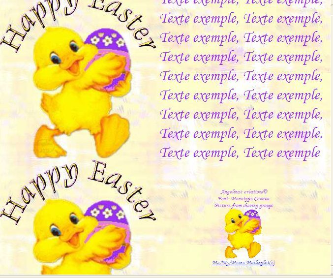 Happy Easter poussin_00 Incredimail &amp&#x3B; Papier A4 h l &amp&#x3B; outlook &amp&#x3B; enveloppe &amp&#x3B; 2 cartes A5 &amp&#x3B; signets happy_easter_paques_poussin_00