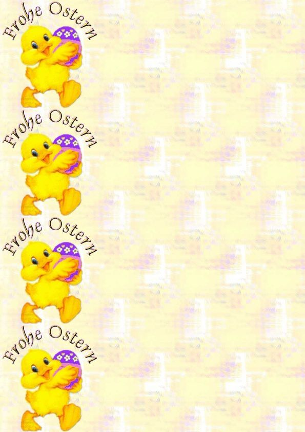 Frohe Ostern poussin_00 Incredimail &amp&#x3B; Papier A4 h l &amp&#x3B; outlook &amp&#x3B; enveloppe &amp&#x3B; 2 cartes A5 &amp&#x3B; signets  frohe_ostern_paques_poussin_00