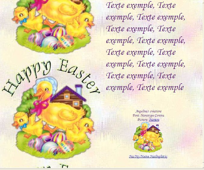 Happy Easter 7d293145_0 Incredimail &amp&#x3B; Papier A4 h l &amp&#x3B; outlook &amp&#x3B; enveloppe &amp&#x3B; 2 cartes A5 &amp&#x3B; signets        happy_easter_paques_7d293145_00_marzou
