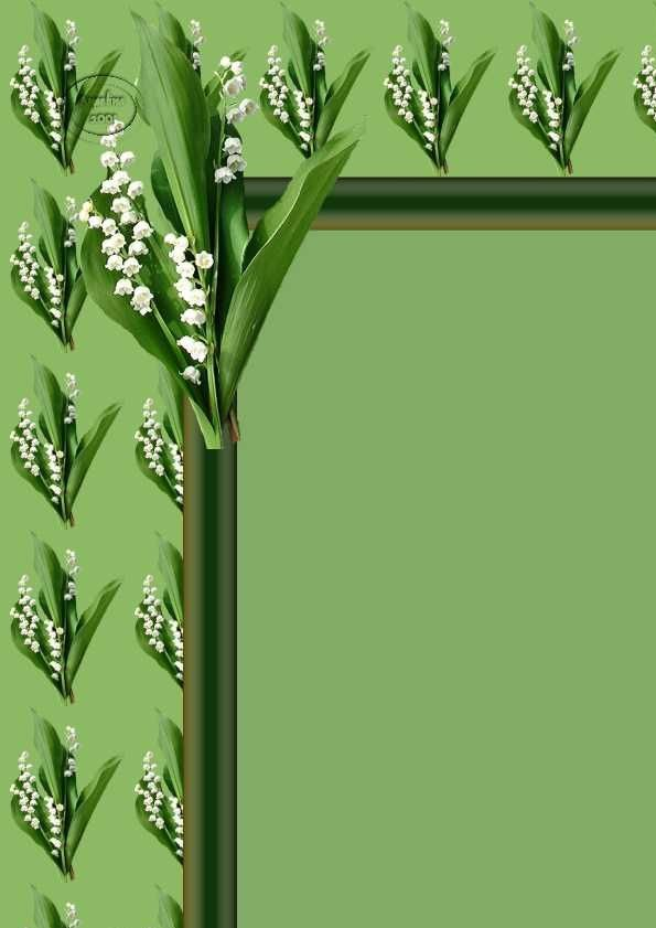 Muguet Incredimail &amp&#x3B; Papier A4 &amp&#x3B; outlook ~ muguet_coin