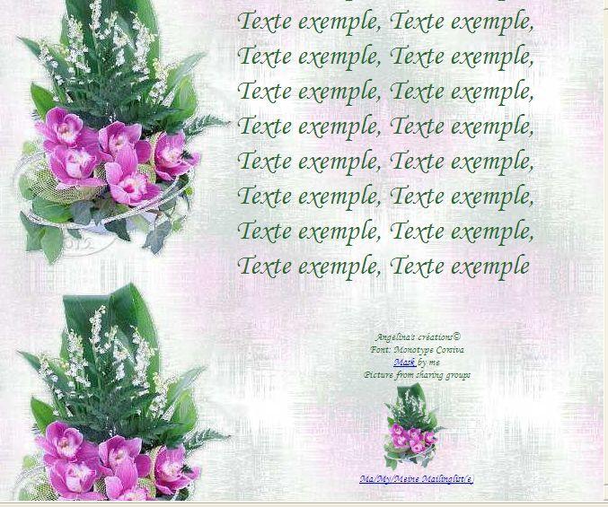 Muguet Orchidées Inredimail &amp&#x3B; outlook &amp&#x3B; Papier A4 h l &amp&#x3B; enveloppe &amp&#x3B; 2 cartes A5 fl_bouquet_muguet_orchidees_bzvzg12u_00