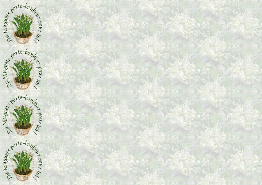 Du Muguets porte-bonheur pour toi Incredimail &amp&#x3B; outlook &amp&#x3B; A4 h l &amp&#x3B; enveloppe &amp&#x3B; 2 cartes A5