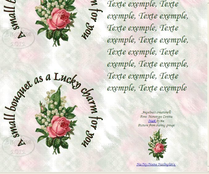 A small bouquet as a Lucky charm for you Muguet Rose Incredimail &amp&#x3B; outlook &amp&#x3B; A4 h l &amp&#x3B; enveloppe &amp&#x3B; 2 cartes A5 a_small_bouquet_as_a_lucky_cha