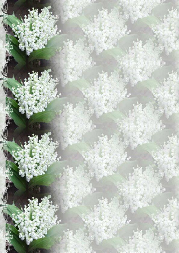 Fleurs Papiers A4 ( 12 pcs) (Muguets) ~