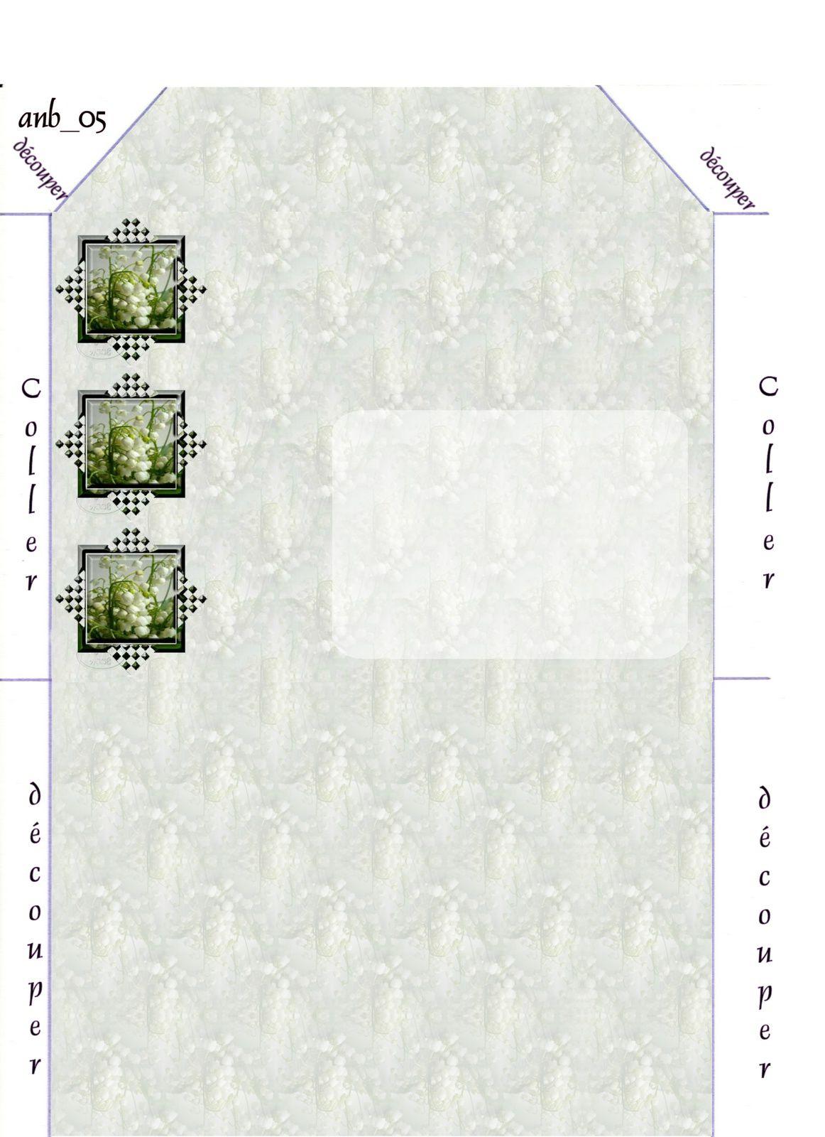 Muguets Incredimail &amp&#x3B; Papier A4 h l &amp&#x3B; outlook &amp&#x3B; enveloppe &amp&#x3B; 2 cartes A5   fleurs_muguet_65