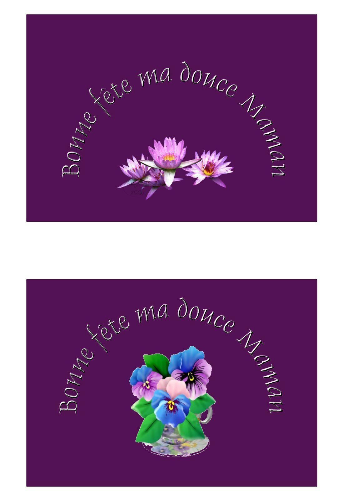 Bonne fête ma douce Maman (fond violet) Carte à écrire bonne_fete_maman_fond_violet_c