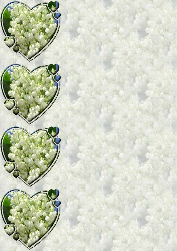 Muguet masque coeur Incredimail &amp&#x3B; Papier A4 h l &amp&#x3B; outlook &amp&#x3B; enveloppe &amp&#x3B; 2 cartes A5