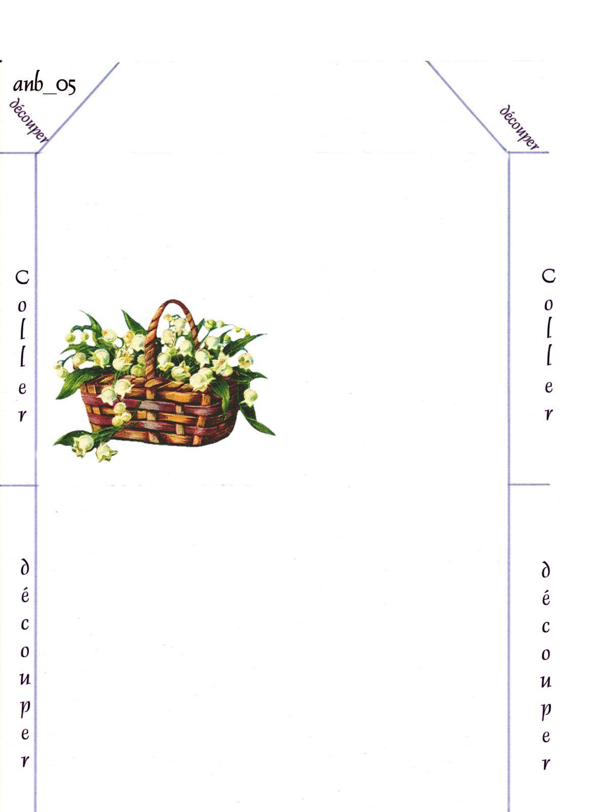Enveloppe Panier de Muguets