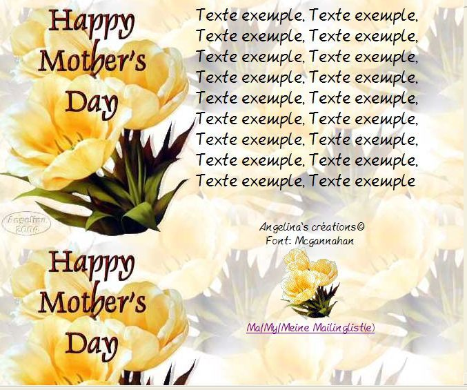 Happy Mother's day Incredimail &amp&#x3B; Papier A4 h l &amp&#x3B; outlook &amp&#x3B; enveloppe &amp&#x3B; 2 cartes A5 &amp&#x3B; signets    happy_mothers_day_softyellowbeauties_mc1