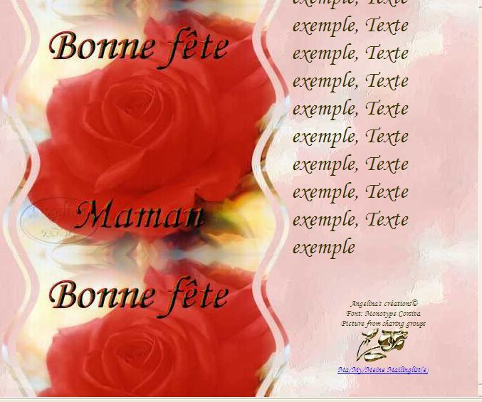 Bonne fête Maman Incredimail &amp&#x3B; Papier A4 h l &amp&#x3B; outlook &amp&#x3B; enveloppe &amp&#x3B; 2 cartes A5 &amp&#x3B; signets bonne_fete_maman_roses_two_red_rose_blossoms_fetemaman