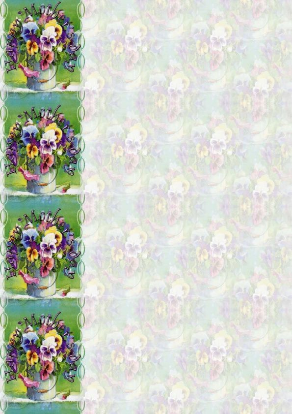 Happy Mother's day Incredimail &amp&#x3B; Papier A4 &amp&#x3B; outlook happy_mothers_day_fleurs_adelene_fletcher_pansies