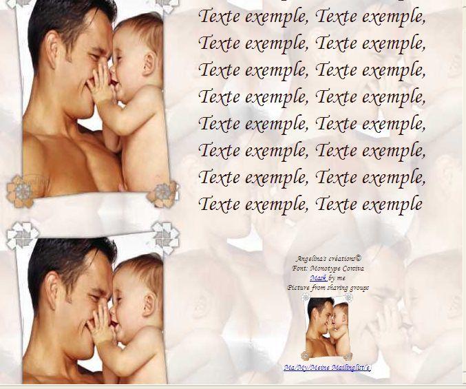 Papa enfant IM &amp&#x3B; outl &amp&#x3B; Papier A4 haut et large &amp&#x3B; enveloppe &amp&#x3B; 2 cartes A5 &amp&#x3B; signets 3 langues pers_papa_et_bebe_10616343_00