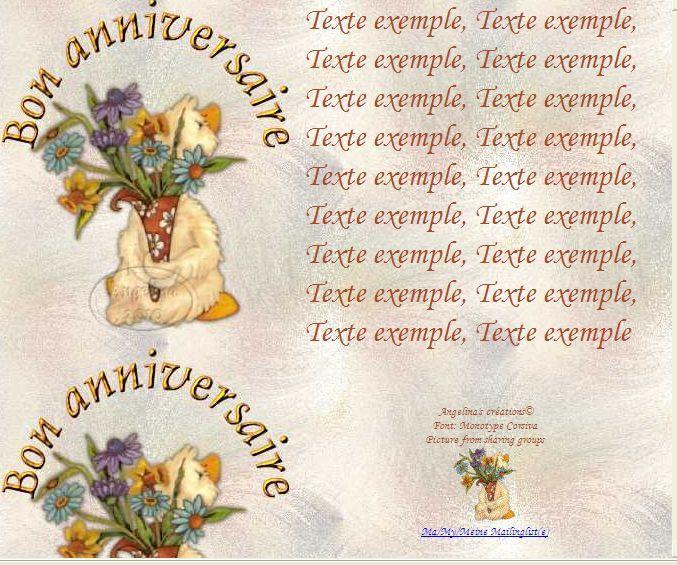 Bon anniversaire (canard fleurs) Incredimail &amp&#x3B; Papier A4 h l &amp&#x3B; outlook &amp&#x3B; enveloppe &amp&#x3B; 2 cartes A5 &amp&#x3B; signets bon_anniversaire_w5exbu1g_00