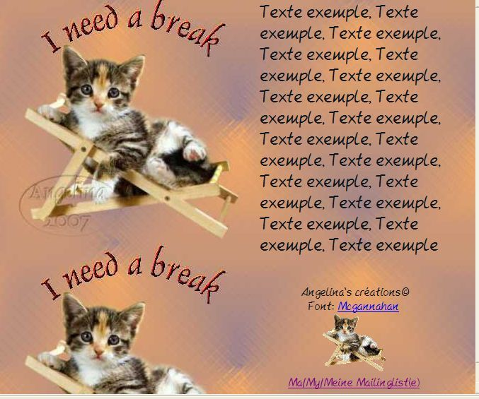 I need a break chaton chaise Incredimail &amp&#x3B; outlook &amp&#x3B; Papier A4 h l &amp&#x3B; enveloppe &amp&#x3B; 2 cartes A5 &amp&#x3B; signets 3 langues    i_need_a_break_frettili1301