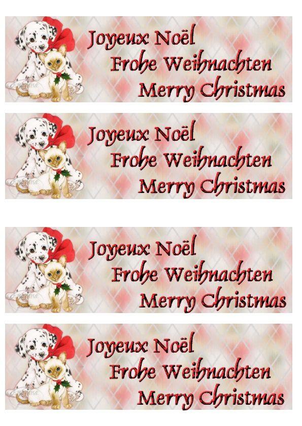 Noël Incredimail &amp&#x3B; Papier A4 h l &amp&#x3B; outlook &amp&#x3B; enveloppe &amp&#x3B; 2 Cartes A5 &amp&#x3B; signets 3 langues plus Noël multilangues  th_noel_puppykittencmas1_sjs