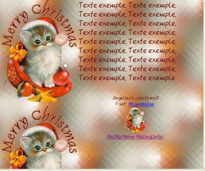 Merry Christmas chatons Incredimail &amp&#x3B; Papier A4 h l &amp&#x3B; outlook &amp&#x3B; enveloppe &amp&#x3B; 2 cartes A5 &amp&#x3B; signets merry_christmas_th_noel_image_chat_noel