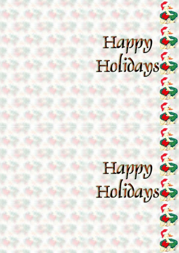 Happy Holidays Canard Noël Incredimail &amp&#x3B; A4 h l &amp&#x3B; outlook &amp&#x3B; enveloppe &amp&#x3B; 2 cartes A5 &amp&#x3B; signets   happy_holidays_noel_canard_091202035329_00_domi