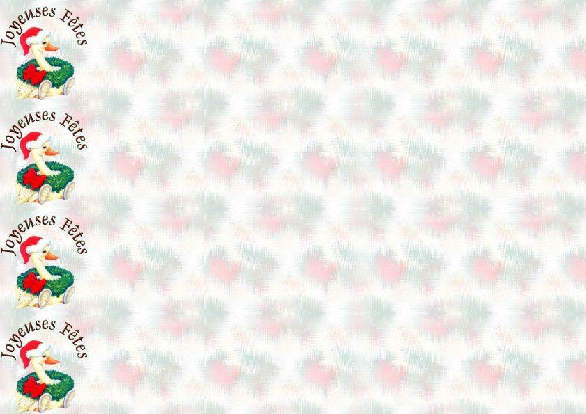 Joyeuses Fêtes Canard Noël Incredimail &amp&#x3B; A4 h l &amp&#x3B; outlook &amp&#x3B; enveloppe &amp&#x3B; 2 cartes A5 &amp&#x3B; signets   joyeuses_fetes_noel_canard_091202035329_00_domi