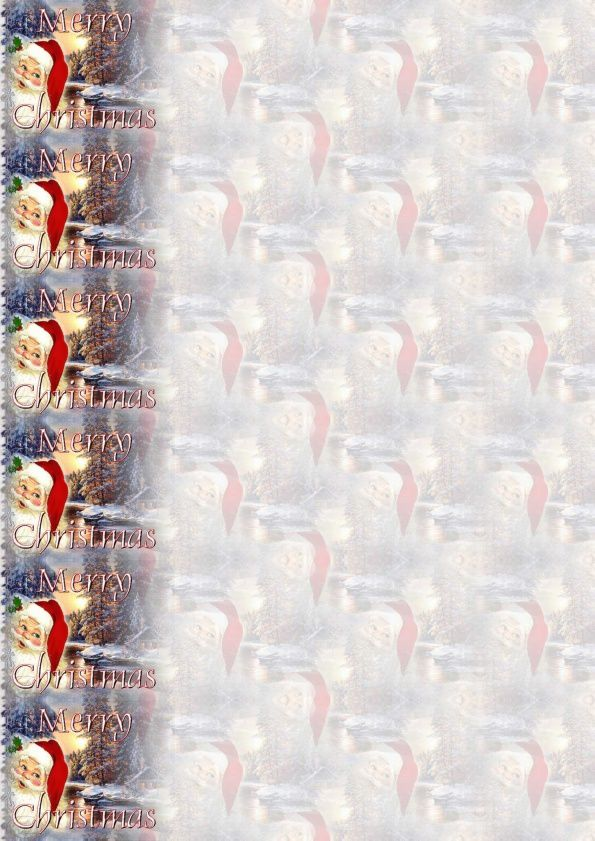 Merry Christmas Père Noël paysage IM &amp&#x3B; Papier A4 h l &amp&#x3B; outlook &amp&#x3B; enveloppe &amp&#x3B; 2 cartes A5 &amp&#x3B; signets  merry_christmas_noel_321c2b3e_00_hugo