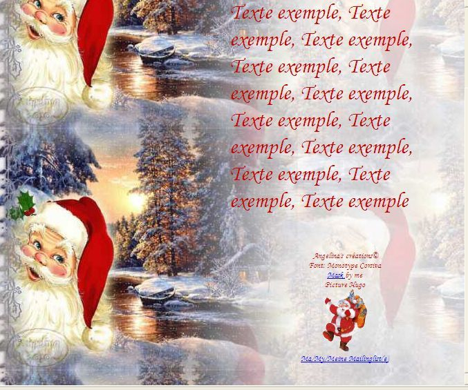 Noël Père noël paysage Incredimail &amp&#x3B; Papier A4 h l &amp&#x3B; outlook &amp&#x3B; enveloppe &amp&#x3B; 2 cartes A5 &amp&#x3B; signets 3 langues plus Noël multilangues   th_noel_321c2b3e_00_hugo
