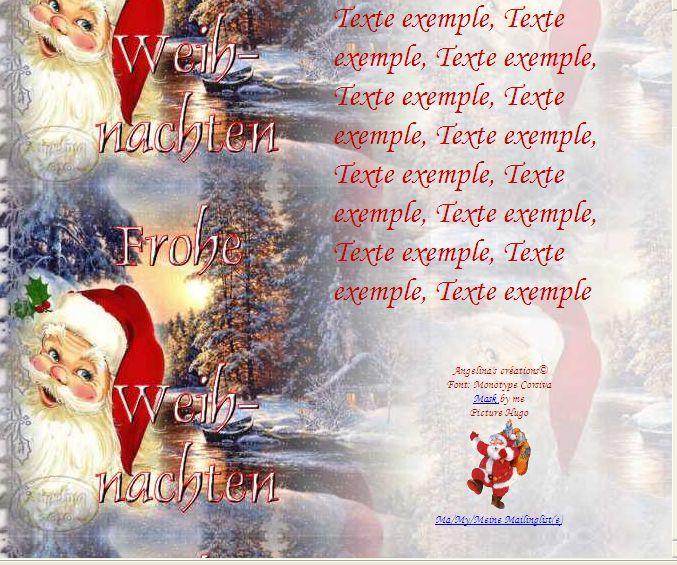 Frohe Weihnachten Père Noël paysage IM &amp&#x3B; Papier A4 h l &amp&#x3B; outlook &amp&#x3B; enveloppe &amp&#x3B; 2 cartes A5 &amp&#x3B; signets  frohe_weihnachten_noel_321c2b3e_00_hugo