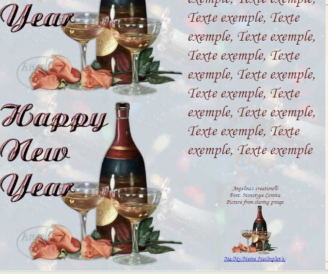 Happy New Year champagneroses Incredimail &amp&#x3B; Papier A4 h l &amp&#x3B; outlook &amp&#x3B; enveloppe &amp&#x3B; 2 cartes A5  happy_new_year_champagneroses_00