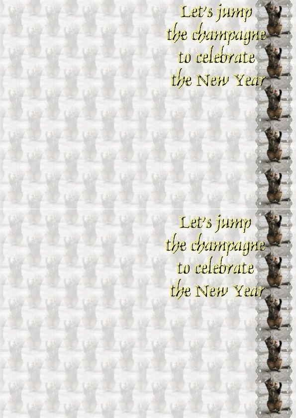 Let's jump the champagne to celebrate the New Year IM&amp&#x3B;A4 h l &amp&#x3B; outlook &amp&#x3B; enveloppe &amp&#x3B; 2 cartes A5  lets_jump_new_year_bouchon_champagne_image0272722_00_leo