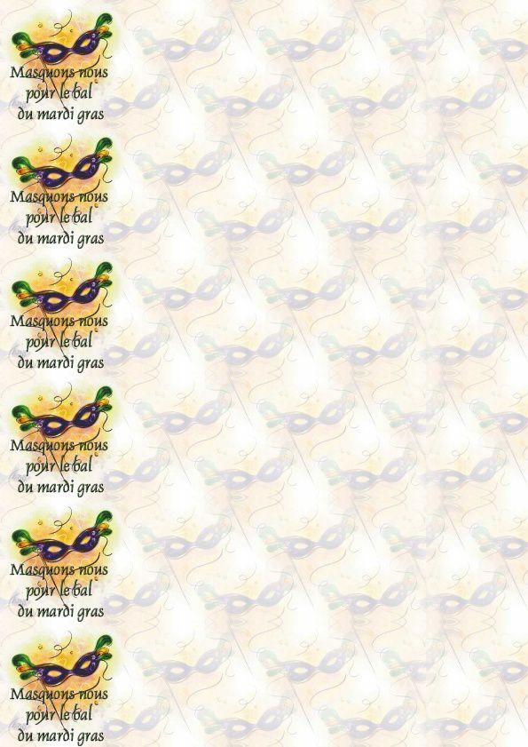 Masquons nous pour le bal du mardi gras Incredimail &amp&#x3B; A4 h l &amp&#x3B; outlook &amp&#x3B; enveloppe &amp&#x3B; 2 cartes A5 &amp&#x3B; signets   masquons_nous_bal_mardi_gras_mardigras4_00_dom