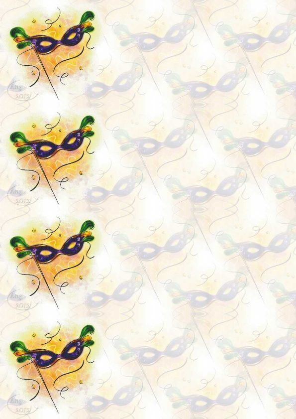 Divers Masque Carnaval Incredimail &amp&#x3B; Papier A4 h l &amp&#x3B; outlook &amp&#x3B; enveloppe &amp&#x3B; 2 cartes A5   div_mardi_gras_mardigras4_00_dom