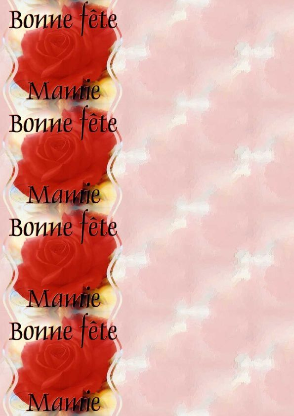 Bonne fête Mamie Rose rouge IM &amp&#x3B; Papier A4 h l &amp&#x3B; outlook &amp&#x3B; enveloppe &amp&#x3B; 2 cartes A5 &amp&#x3B; signets bonne_fete_mamie_roses_two_red_rose_blossoms
