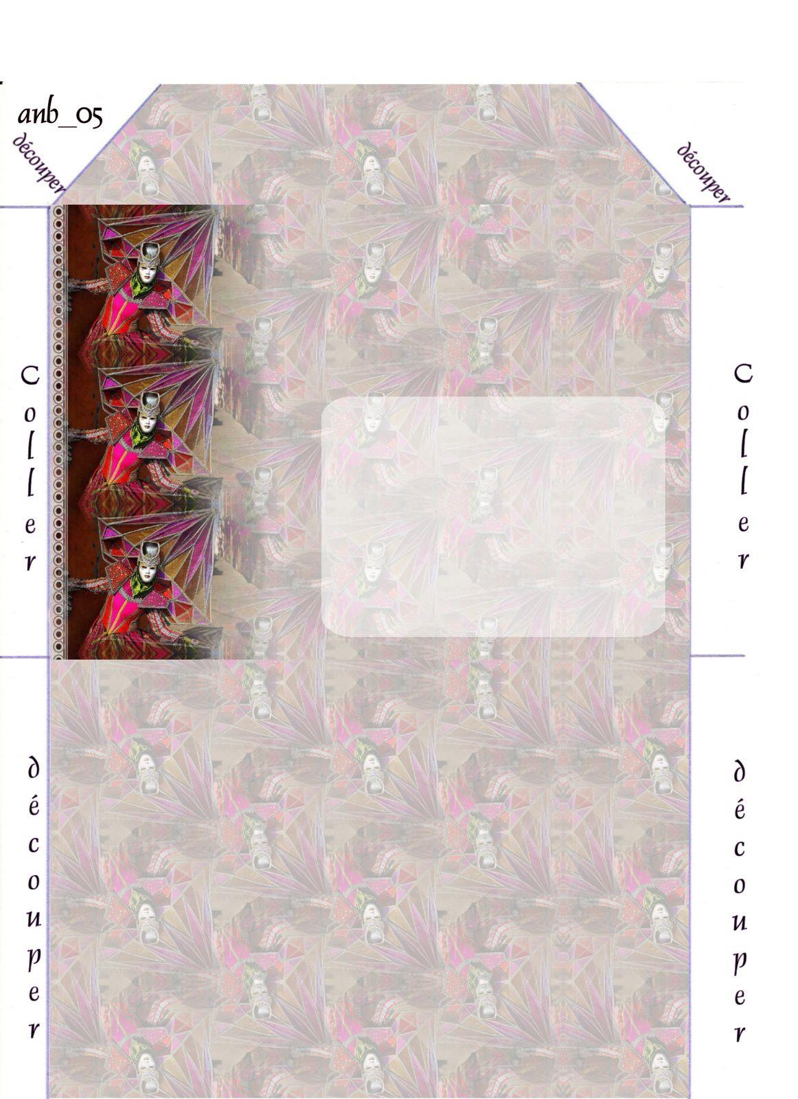 Personnage Carnaval de Venise IM &amp&#x3B; Papier A4 h l &amp&#x3B; outlook &amp&#x3B; enveloppe &amp&#x3B; 2 cartes A5 &amp&#x3B; signets  pers_venise_carnaval2009_04