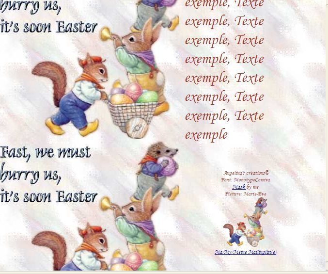 Fast, we must hurry us, it's soon Easter Incredimail &amp&#x3B; A4 h l &amp&#x3B; outlook &amp&#x3B; enveloppe &amp&#x3B; 2 cartes A5 &amp&#x3B; signets  fast_we_must_hurry_paques_lapins_herisson_image3_00