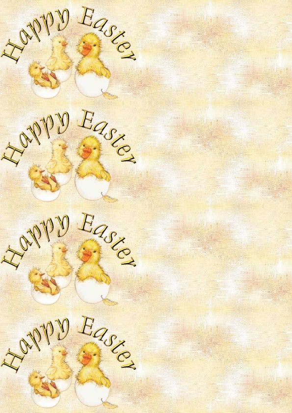 Happy Easter Canards sortant de l'oeuf paques_babychicks Incredimail &amp&#x3B; A4 &amp&#x3B; outlook &amp&#x3B; enveloppe &amp&#x3B; 2 cartes A5 &amp&#x3B; signets  happy_easter_paques_babychicks_hatching_molly_00