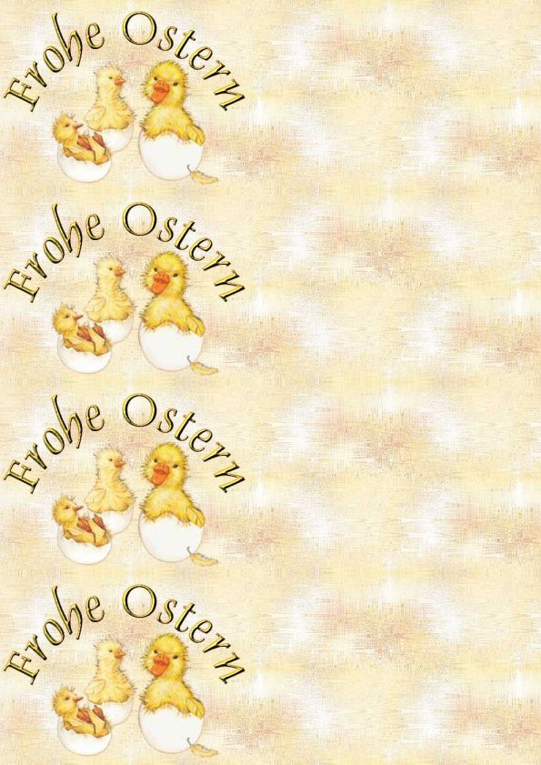 Frohe Ostern Canards sortant de l'oeuf babychicks Incredimail &amp&#x3B; A4 &amp&#x3B; outlook &amp&#x3B; enveloppe &amp&#x3B; 2 cartes A5 &amp&#x3B; signets  frohe_ostern_paques_babychicks_hatching_molly_00